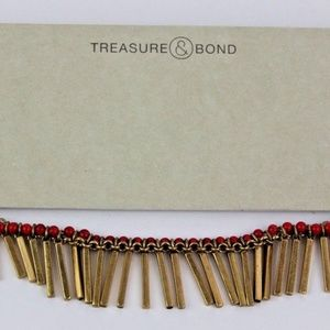 Treasure & Bond Choker Copper Red Tassel Fringe